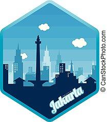 logo, ville, jakarta
