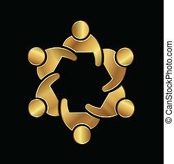 logo, vip, grupa, wizerunek, ludzie