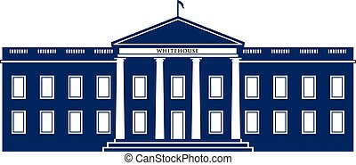 logo, vita huset, byggnad