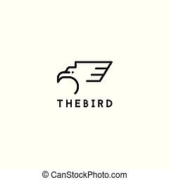 logo, vogel, pictogram