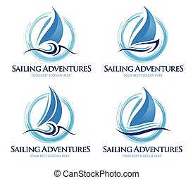 logo, voilier