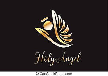 logo, voler, ange