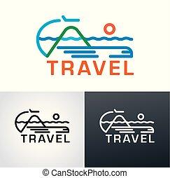 logo, voyage