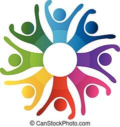 logo, vrolijke , mensen