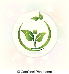 logo, watecolor, sundhed, det leafs, natur