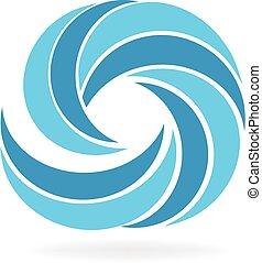 Logo waves beach