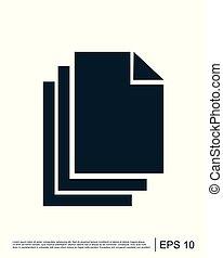logo, wektor, dokument, szablon, ikona