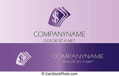 logo, wektor, dolar
