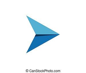 logo, wektor, handlowy, strzała, szablon