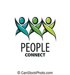 logo, wektor, ludzie