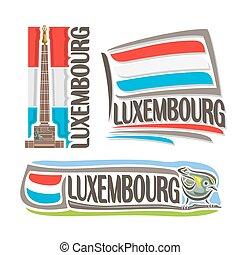 logo, wektor, luksemburg