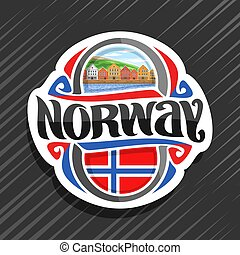 logo, wektor, norwegia