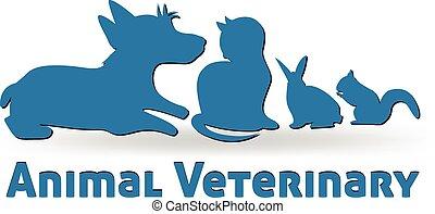 logo, wektor, pieszczochy