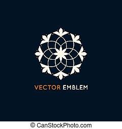 logo, wektor, projektować, szablon