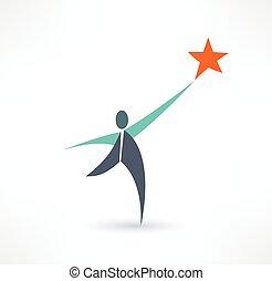 logo, wektor, projektować, zwycięzca, szablon