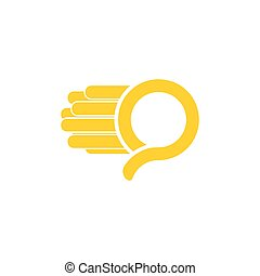 logo, wektor, q, beletrystyka, ruch, mocny, prosty