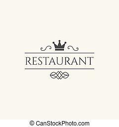 logo, wektor, restauracja
