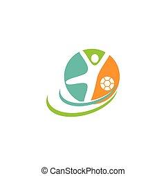 logo, wektor, sport, ilustration