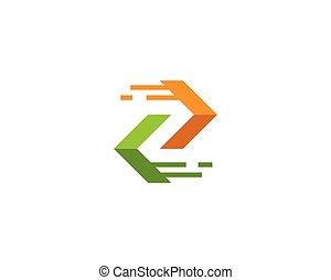 logo, wektor, strzała