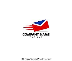 logo, wektor, twórczy, mocny, poczta