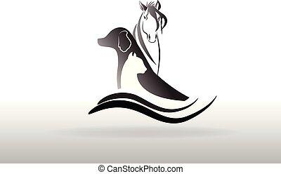 logo, wektor, weterynaryjny, ikona