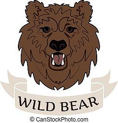 Logo wild bear - Logo angry wild bear head