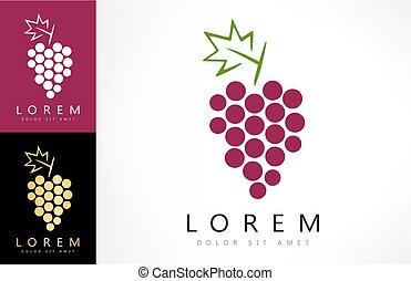 logo, winogrona