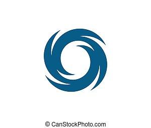 logo, wirbel, vektor, abbildung, ikone