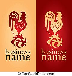 logo with a cock