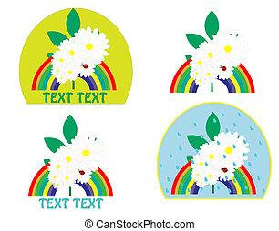 logo with a rainbow vector