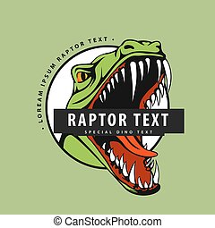 Logo with a raptor on a green background