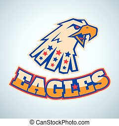 logo with angry eagle