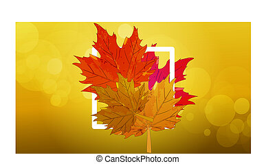 logo with autumn leaves