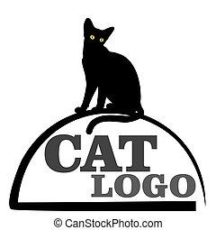 Logo with black cat.