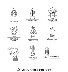 Logo with cactuses