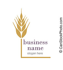 Logo with ear of wheat.