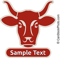 Logo with head of a cow