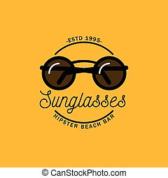 Logo with the image of round sunglasses