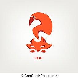 logo, witte vos, achtergrond.
