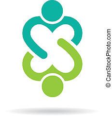 logo, wizerunek, śliczny, przyjaźń