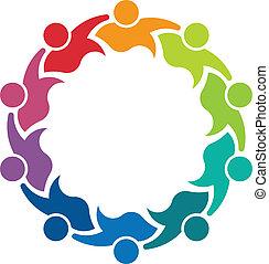 logo, wizerunek, osoba, teammates, 10