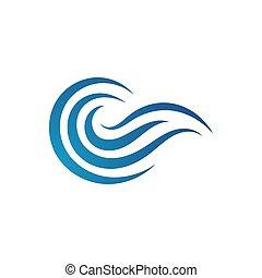 logo, woda, ilustracje, projektować, wektor, szablon, transoceaniczna woda