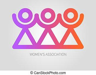 Icon of sorority - Logo womens association, club, union....