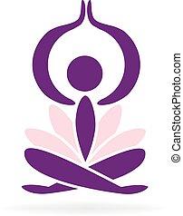 logo, yoga