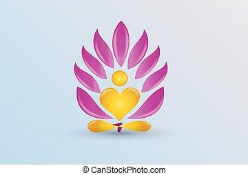 Logo yoga lotus flower