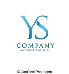 logo, ys, wektor, beletrystyka