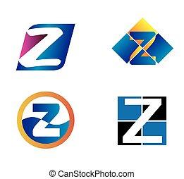 logo, z, litera, ikona
