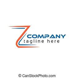 logo, z, technologie, lettre, créatif