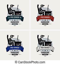 logo, za, esports, bardziej gemowy, design.