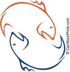 logo, zabawa połów